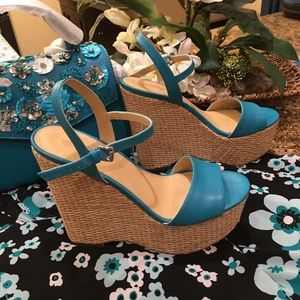 👡👡Fisher Leather Wedge👡👡